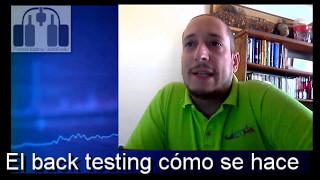 ¿Cómo se hace un back testing?