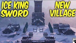 Fortnite swords and new village.Polar peak is melting,NEW ICE KING LTM