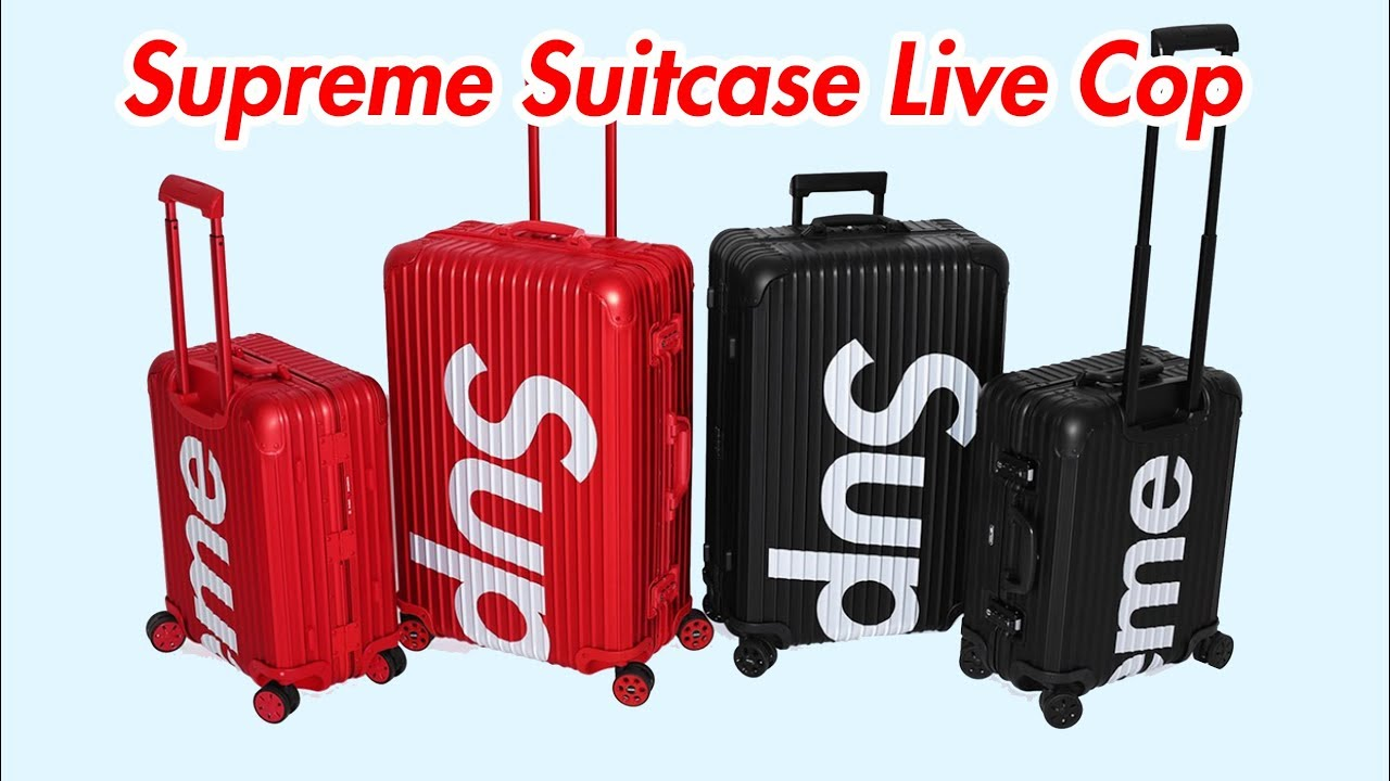 cace51bb4 Supreme Rimowa Suitcase Live Cop (Took a W) - YouTube