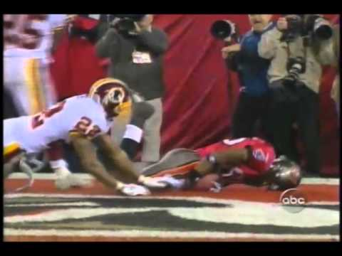 2005 Skins at Bucs Playoff game - Edell Shepherd drops critical TD right to him
