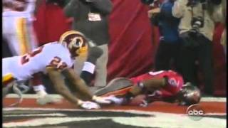 2005 skins at bucs playoff game edell shepherd drops critical td right to him