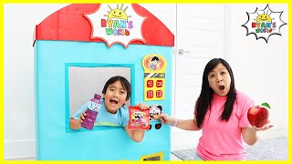 Ryan Vending Machine Kids Toy Story Pretend Play!!!!