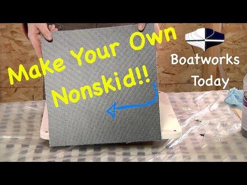 Make A Fiberglass Mold Of Your Gelcoat Nonskid For Repair!