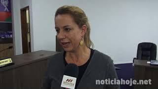 Sirley Ceccatto pede ponto de táxi em Taquara Verde