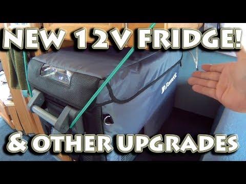 New Dometic 12v Refrigerator Freezer, Aquasana Water Filter, & Bluetooth Stereo In the RV Camper Van