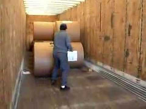 Unload Double Stack Paper Roll Youtube