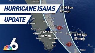 The Latest Update on Hurricane Isaias | NBC 6