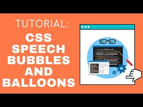 CSS Speech Bubbles / Balloons Tutorial