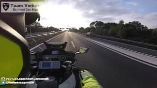 Commandant glijdend transport / Police escort Sassenheim naar het LUMC Leiden 13-10-2016