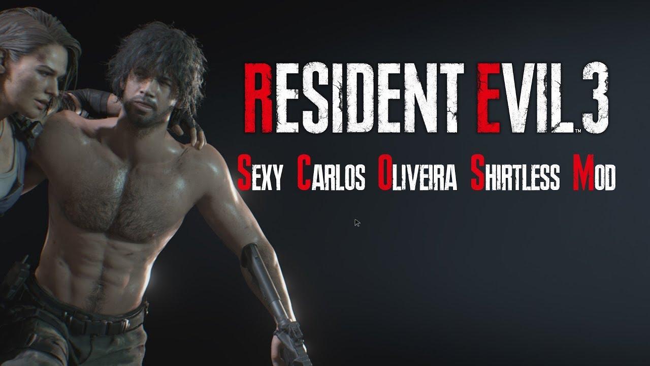 Resident Evil 3 Remake Sexy Shirtless Carlos Oliveira Pc Mod