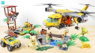 レゴ シティ ジャングル探検飛行機と古代遺跡 60162 / LEGO City Jungle Air Drop Helicopter 60162
