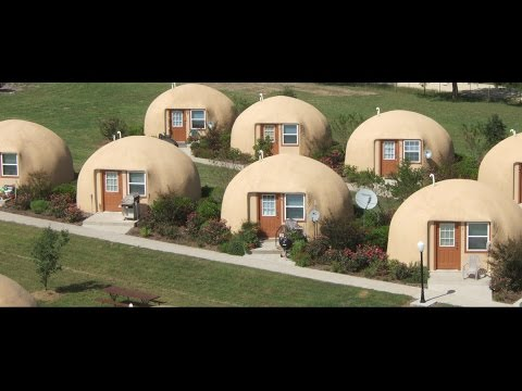 Tiny House is a Super Efficient Monolithic Dome - YouTube