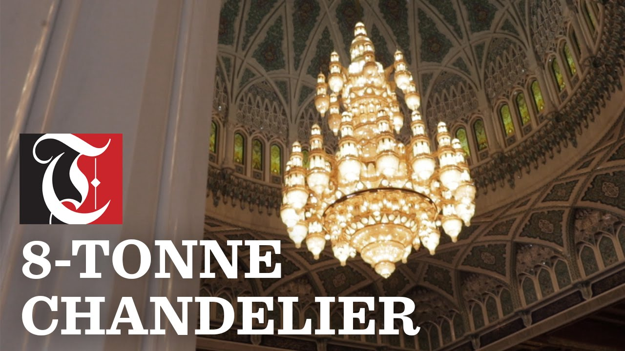 Amazing 8 Tonne Chandelier At Grand Mosque