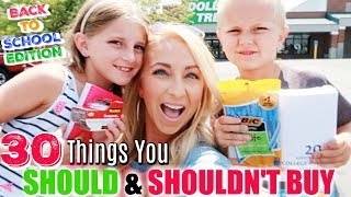 Dollar Tree Shopping: 30 School Supplies You SHOULD & SHOULDN