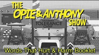 Opie & Anthony: Words That Hurt and Harm Booklet (12/07/06)