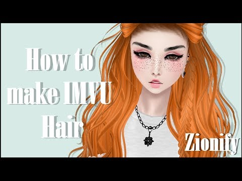 IMVU Creating: How to make hair textures and add baby hair