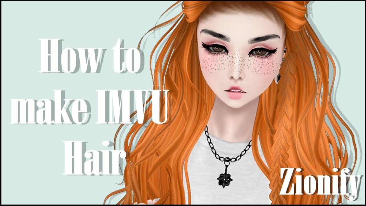 IMVU Creating: How to make hair textures and add baby hair mesh