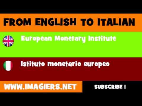 FROM ENGLISH TO ITALIAN = European Monetary Institute
