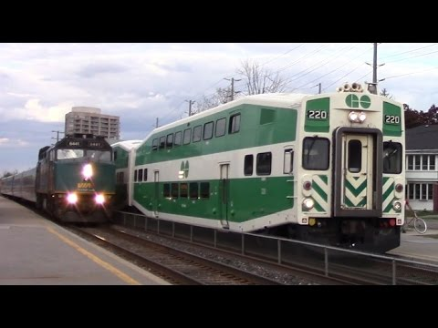 Must See Go And Via Trains Race At Brampton Go Station