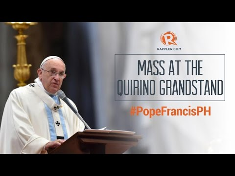 #PopeFrancisPH: Pope Francis Mass in Luneta