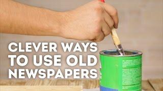 4 wonderful ways to reuse old newspapers l 5-MINUTE CRAFTS