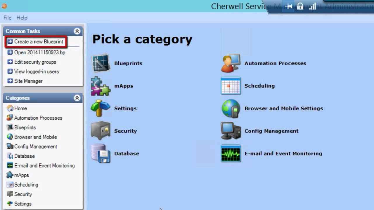 How to use blueprints in cherwell youtube malvernweather Choice Image