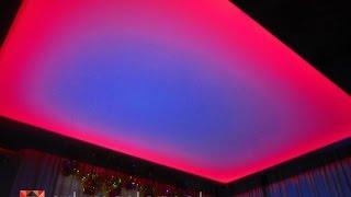 Музыкальный натяжной потолок.( Music Ceiling ).Компания Арт-Мастер.(Потолок с активной светодиодной RGB подсветкой подключенный к аудиосистеме через аудио контроллер. Потолок..., 2015-01-14T04:54:13.000Z)