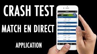Crash Test - Être alertés des derniers résultats football avec Match en direct (Application)