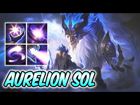 STORM DRAGON AURELION SOL NEW AMAZING SKIN | Best Build & Runes | Aurelion Sol Mid Gameplay 51k DMG