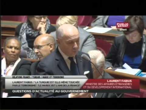 """""""Le Maroc est l'ami de la France"""" : Laurent Fabius au Sénat (15/01/2015)"""