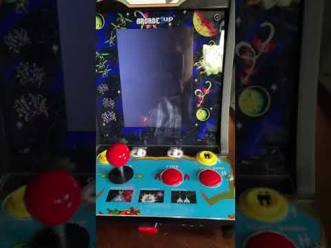 $49 Arcade1up Galaga Countercade Mod - Bluetooth controller for 2 person concurrent games from Towpath Terrors