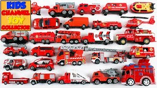 Fire Vehicles For Kids Children Babies Toddlers   Emergency Vehicles Toys   Kids Learning Video