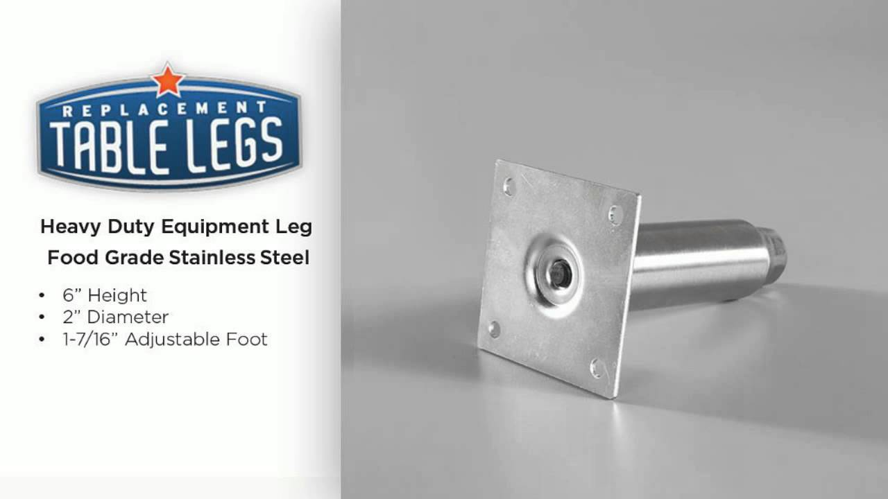 Heavy Duty Equipment Leg Food Grade Stainless Steel YouTube - Food grade stainless steel table