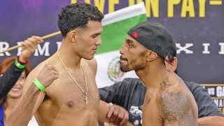 J'Leon Love INSULTS David Benavidez @ WEIGH IN by Dancing in his Face