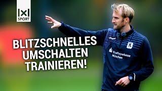 Fußballübung (TSV 1860 München): Passspiel & Taktik - Das Umschaltspiel im 4 gegen 2