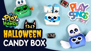How to Make a Monster Candy Box for Halloween 🍬 | Halloween Crafts for Kids | PlayHands | Playsongs