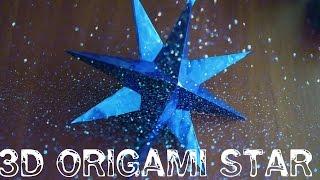 Объемная звезда из бумаги своими руками. 3D origami star