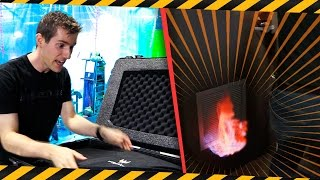 APRIL FOOLS 2017 - Server Room CATCHES FIRE While Filming!