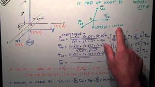 Statics   3 D Equilibrium problem