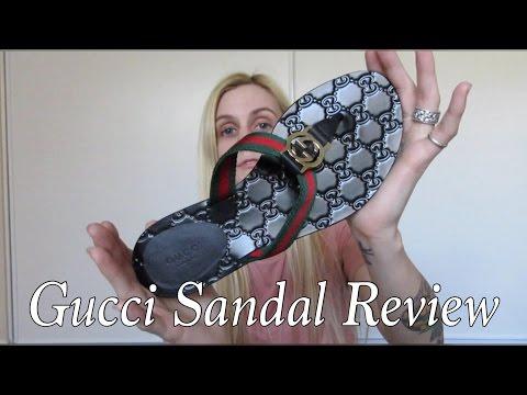 gucci-'gg'-logo-sandals-review-|-mini-reveal-balenciaga-&-louis-vuitton