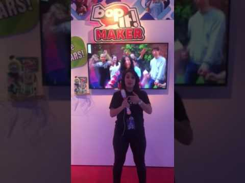 Hasbro toy fair demo of Bop It Maker