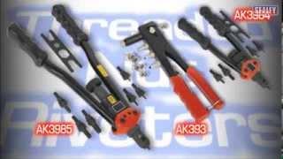 ak393 ak3984 ak3985 sealey threaded nut riveters