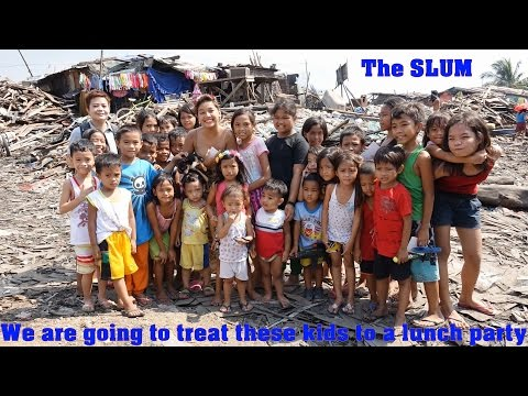 Travel to Manila Philippines. Welcome to the SLUMS! Let's Make these Poor Kids Happy