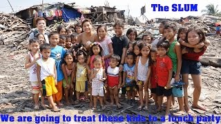 Repeat youtube video Travel to Manila, Philippines. Welcome to the SLUM. Let's Make these Poor Kids Happy