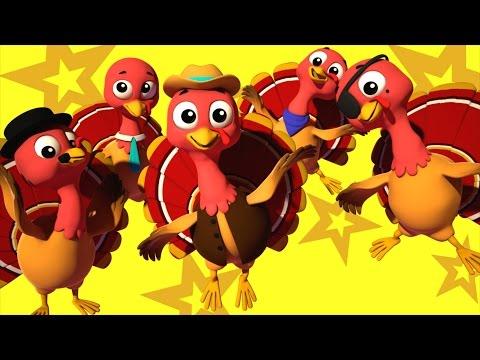 five little turkeys  nursery rhymes Farmees  kids songs  childrens rhymes  Farmees S01E78