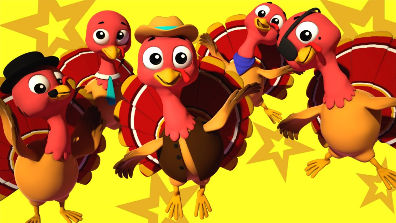 Five Little Turkeys Nursery Rhymes Farmees Kids Songs Childrens Rhymes By Farmees