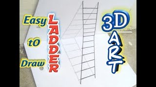How to Draw a 3D Ladder - Trick Art For Everyone
