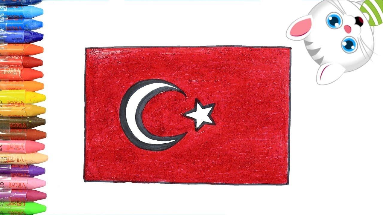 19 Mayis Turk Bayragi Nasil Cizilir Nasil Boyanir Mimi Ile