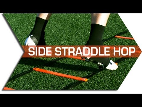 SIDE STRADDLE HOP - AGILITY LADDER DRILLS - FOOTWORK, QUICKNESS & SPEED TRAINING DRILL