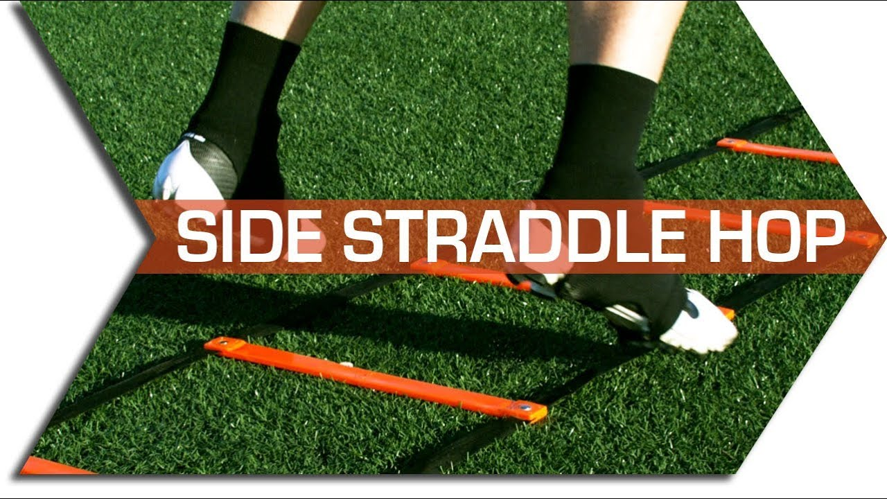 SIDE STRADDLE HOP - AGILITY LADDER DRILLS - FOOTWORK ...